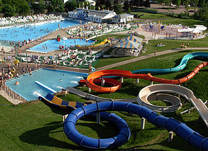 An image of Magic Mountain Water Park in Moncton.