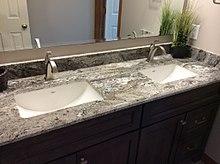 kitchen tops wood tile floor countertop wikipedia sink installation edit