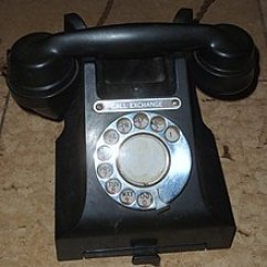 Rotary Dial Telephone Wiring Diagram 1931 Ford Wikipedia Phone With Letters On Its 1950s Uk