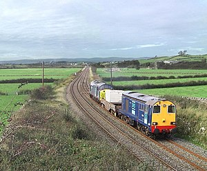 Nuclear waste flask train between Cark and Car...