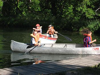 Boy scouts, paddling