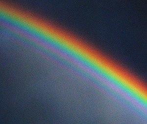 English: A supernumerary rainbow. The image ha...