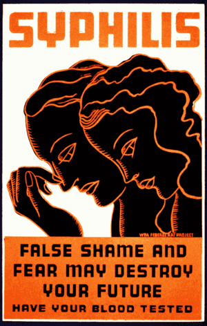 English: Syphilis. False shame and fear may de...