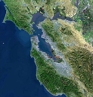 USGS Satellite photo of the San Francisco Bay ...