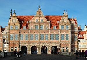 English: Green Gate in Gdańsk, Poland. Polski:...