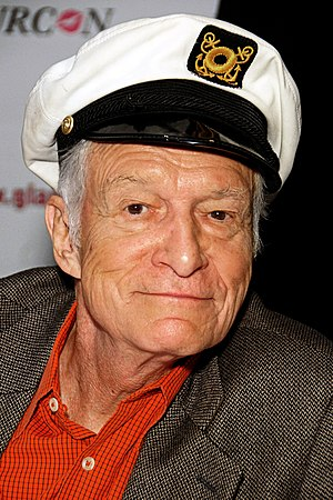 English: Hugh Hefner attending Glamourcon #50,...