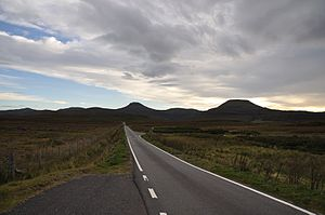 Deutsch: Single track road auf Isle of Skye