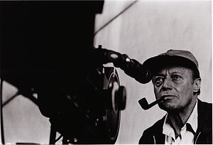 Picture of cinematographer Jack Cardiff behind...