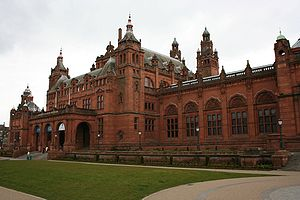 Front elevation of Kelvingrove Art Gallery and...