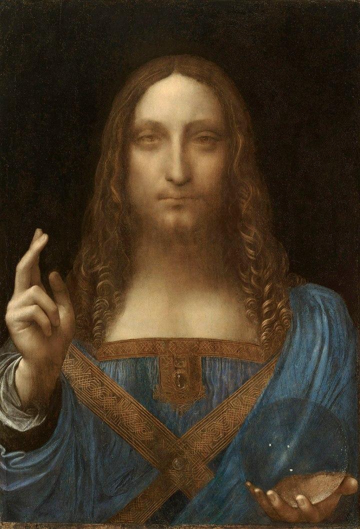 Leonardo da Vinci, Salvator Mundi, c.1500, oil on walnut, 45.4 × 65.6 cm.jpg