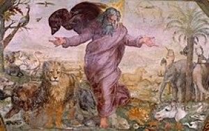 The Creation of the Animals Fresco Loggia on t...