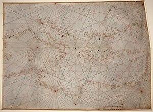 Anonymous Genoese portolan chart from c. 1325 ...