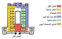 تخطيط الطابق الأول للمتحف المصري الحالي