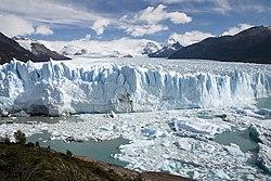 El Glaciar Perito Moreno, en el Parque Nacional Los Glaciares, Argentina