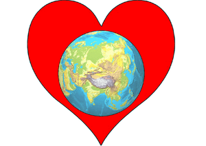 English: Heart Planet Earth