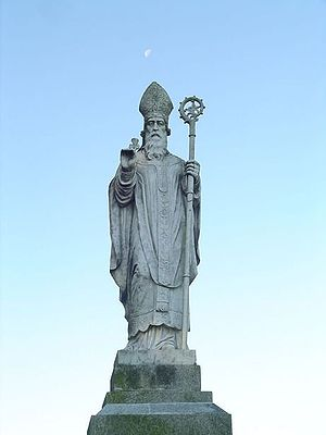 Statue of Saint Patrick at the Hill of Tara, C...
