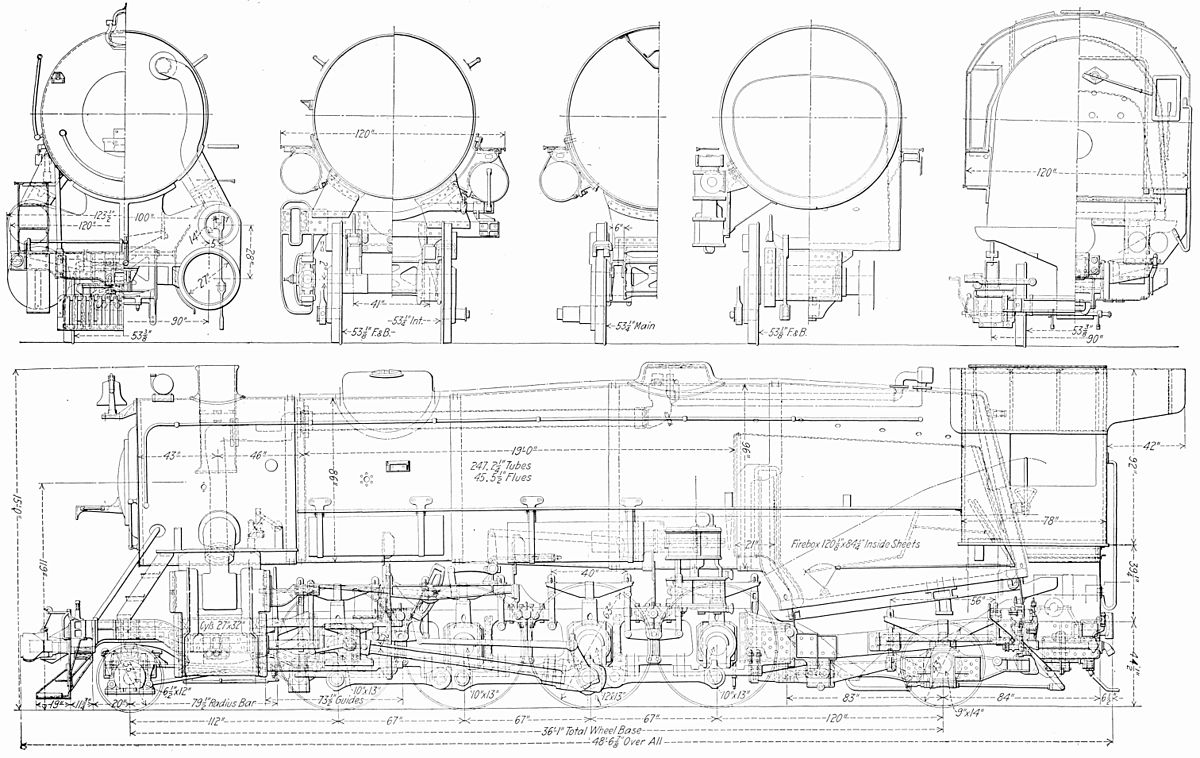 hight resolution of steam locomotive engine diagram