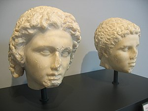 English: Busts of Alexander the Great and Heph...