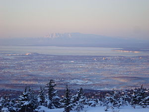 English: This is a photo of mid-town Anchorage...