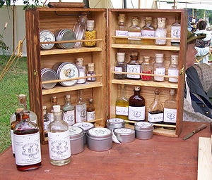 English: An assortment of different medicines ...