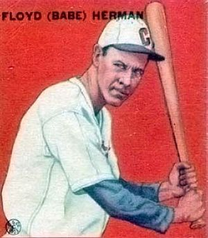 English: 1933 Goudey Baseball Card of Babe Her...