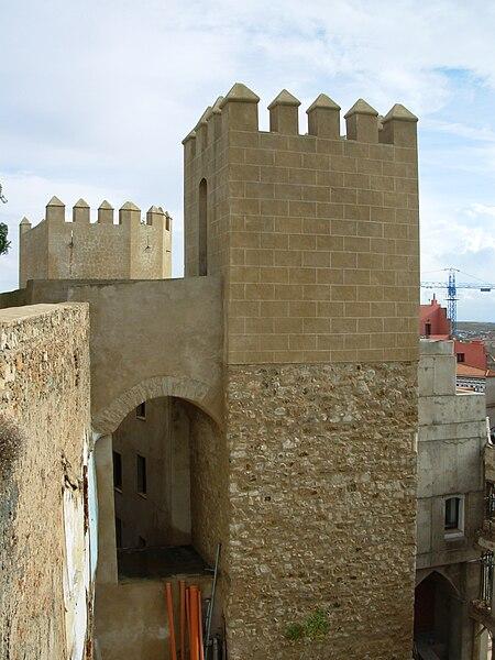 Tour dans l'Alcazaba de Badajoz.