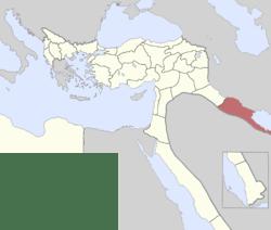 Location of Basra Vilayet