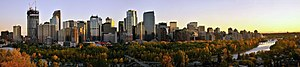 English: View of downtown Calgary, Canada, as ...