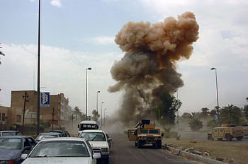 Car bombings are a common form of attack in Ir...