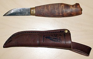 A carbon steel knife