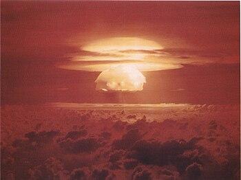 Nuclear weapon test Bravo (yield 15 Mt) on Bik...