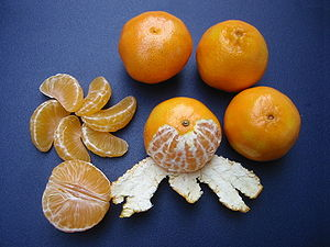 Clementines citrus are very sweet, easy to pee...