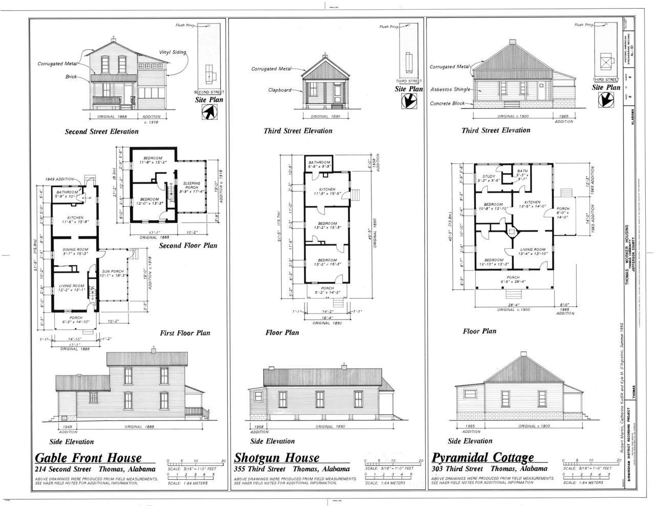 FileGable Front House Shotgun House and Pyramidal
