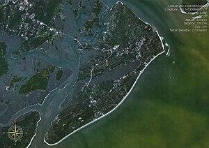 Satellite image of Hilton Head Island, South C...