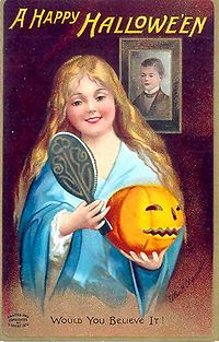 Cartel que anuncia la llegada de Halloween, en 1904.