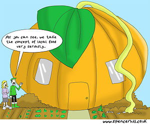 English: Local food cartoon created for Transi...