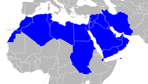 Map of commonly included MENA (Middle East & N...