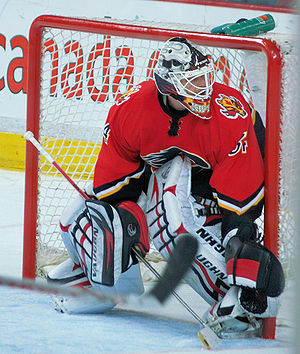Miikka Kiprusoff of the Calgary Flames