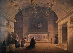 View of Church of the Nativity in 1833