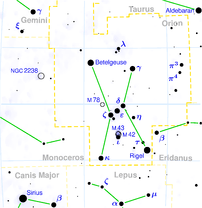 This is a celestial map of the constellation O...