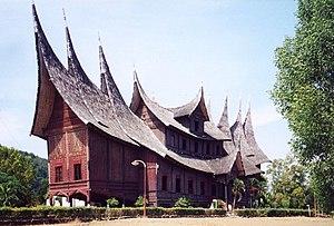 Pagaruyung Palace in the Minangkabau Rumah gadang style