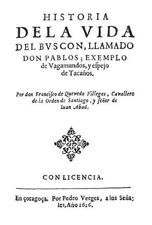 Original title page of Francisco de Quevedo's ...