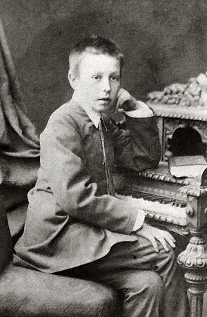Sergei Rachmaninov at the age of 12