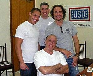 English: U.S. Air Force member with members of...