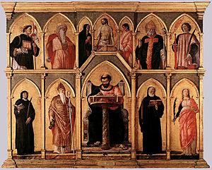 The St. Lucas altarpiece in the Pinacoteca di ...