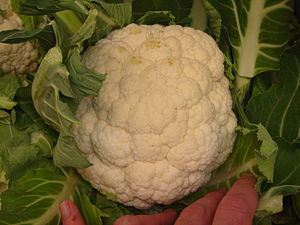 Cauliflower photographed in Woolworths store i...
