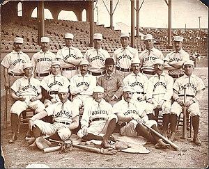 English: The 1890 Boston Beaneaters team photo...