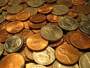 An assortment of United States coins, includin...