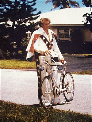 This is daredevil Evel Knievel photographed in...
