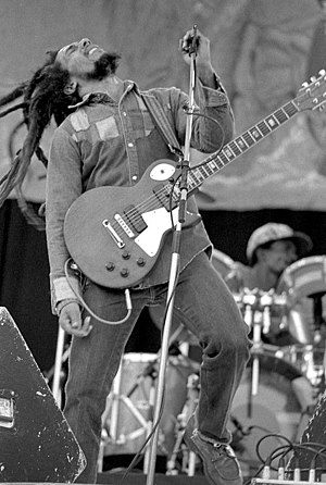 English: Bob Marley live in concert, just a co...